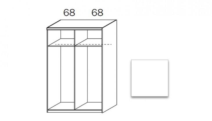 Posuvná quadra - korpus šatní skříně 48K1