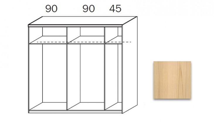 Posuvná quadra - korpus šatní skříně 48K3