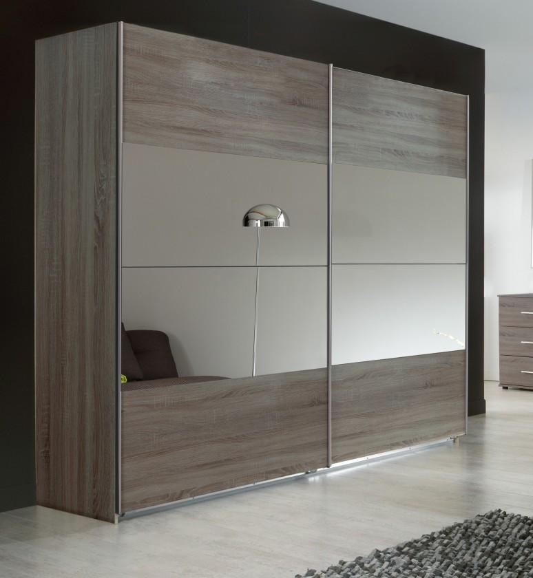 Posuvná Vicenza - Šatní skříň, 2x posuvné dveře (dub montana)