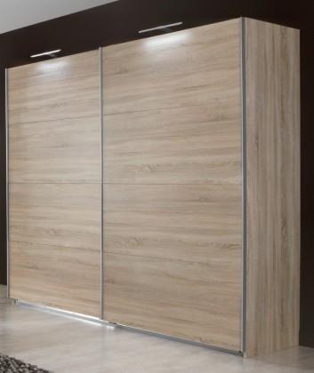 Posuvná Vicenza - Šatní skříň 3, 2x posuvné dveře (dub)
