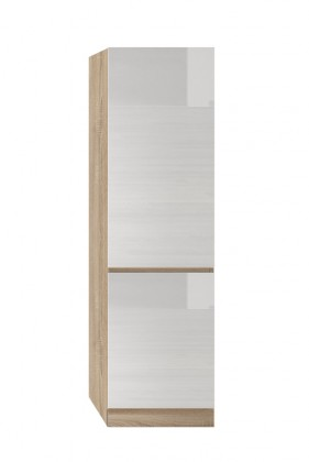 Potravinové skříně a ostrůvky Potravinová skříň ke kuchyni Line (bílá lesk)