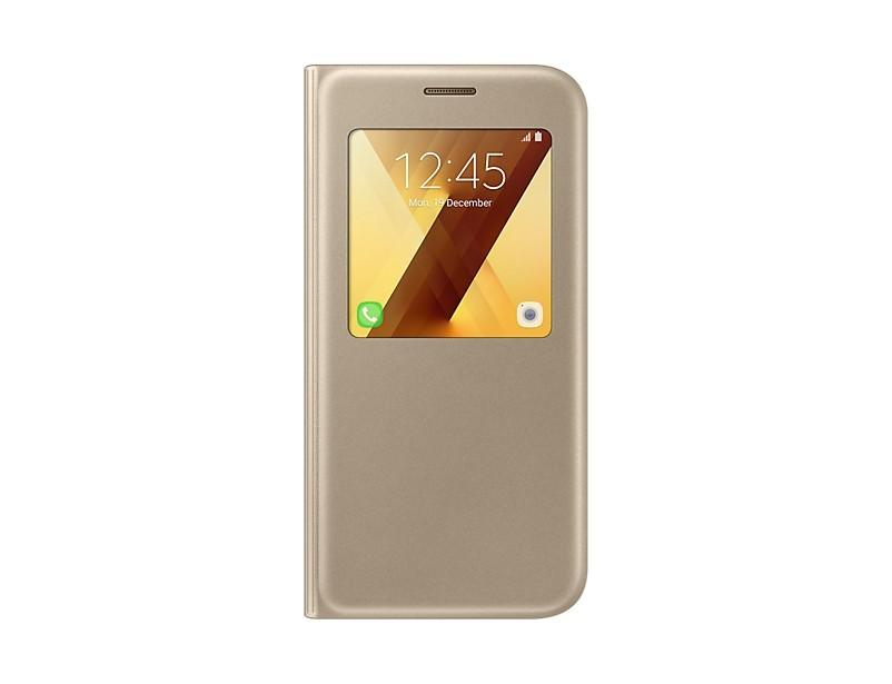 Pouzdra a kryty A5 (2017) Flipové pouzdro S View se stojánkem Gold