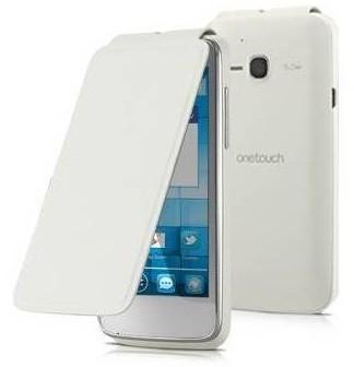 Pouzdra a kryty Alcatel flip pouzdro pro Alcatel One Touch S´POP, bílá
