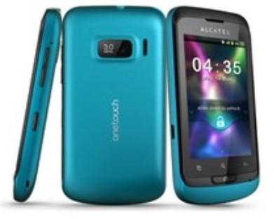 Pouzdra a kryty Alcatel One Touch 918 výměnný kryt, Cyber Blue
