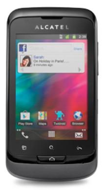 Pouzdra a kryty Alcatel výměnný kryt pro Alcatel One Touch 918, šedá