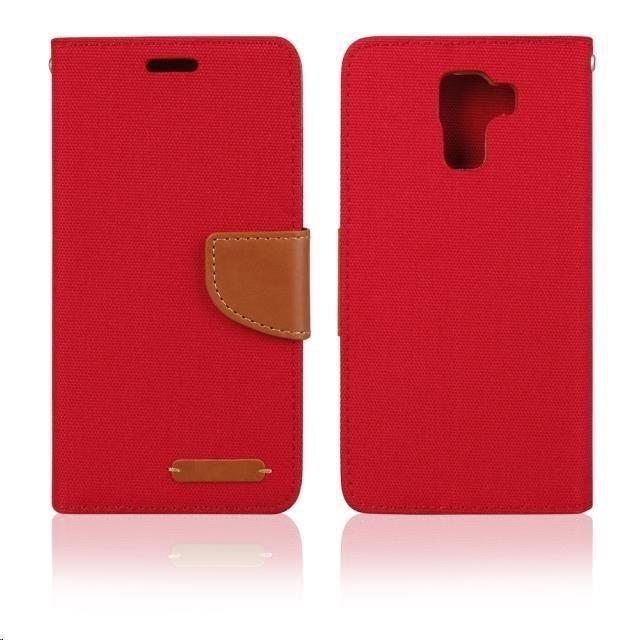 Pouzdra a kryty Aligator pouzdro BOOK FANCY pro Samsung Galaxy J1, červená PBOFAJ