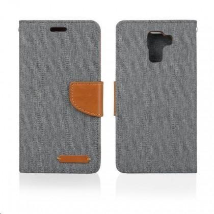 Pouzdra a kryty Aligator pouzdro BOOK FANCY pro Samsung Galaxy J5, šedá PBOFAJ5GY