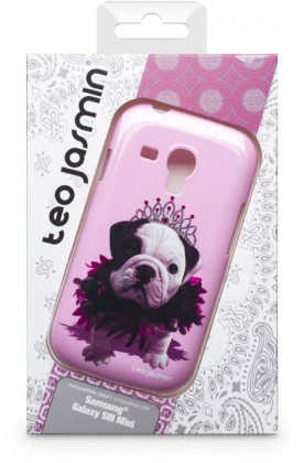 Pouzdra a kryty Bigben Kryt pro Samsung Galaxy SIII mini Teo Queen,růžová