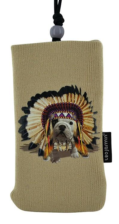 Pouzdra a kryty Bigben univerzální pouzdro na krk Teo Apache, krémová