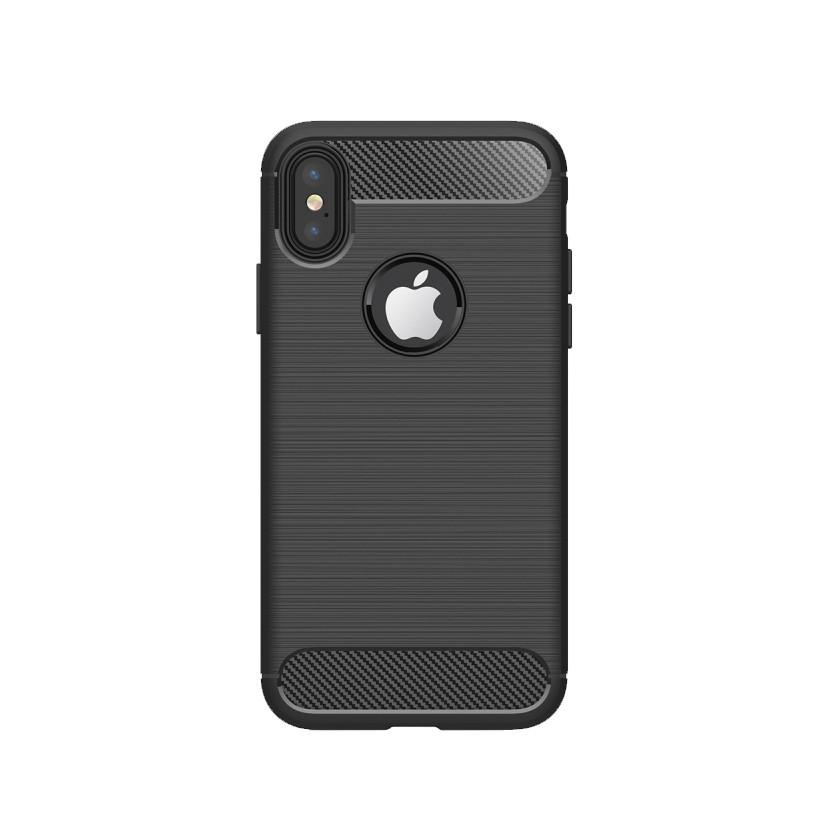 Pouzdra a kryty Carbon iPhone X black