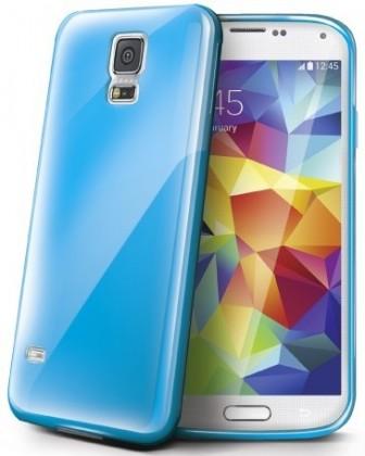 Pouzdra a kryty Celly gelskin pro Samsung Galaxy S5, modrá