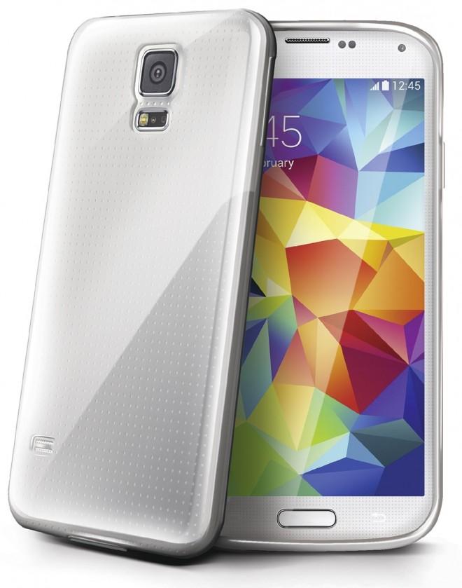 Pouzdra a kryty Celly gelskin pro Samsung Galaxy S5, transparentní