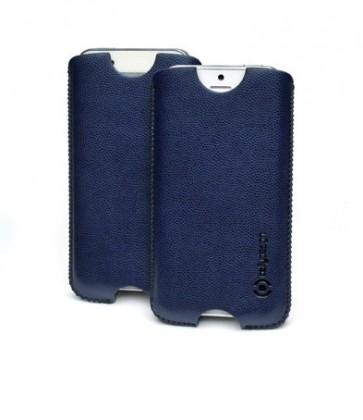 Pouzdra a kryty Celly kožené pouzdro pro iPhone 5, modrá