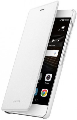 Pouzdra a kryty Huawei flip pouzdro Original Folio pro P9 Lite, bílá