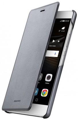 Pouzdra a kryty Huawei flip pouzdro Original Folio pro P9 Lite, šedá