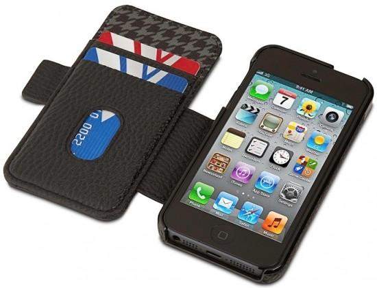 Pouzdra a kryty Kensington peněženka a pouzdro  pro iPhone 5 BLACK HOUNDSTOOTH