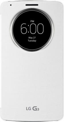 Pouzdra a kryty LG QUICKCIRCLE# flipové pouzdro CCF-345G pro LG G3 - bílá