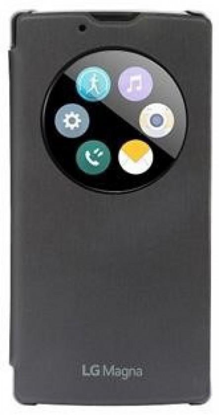 Pouzdra a kryty LG QUICKCIRCLE# flipové pouzdro CCF-605 pro LG Magna - černá