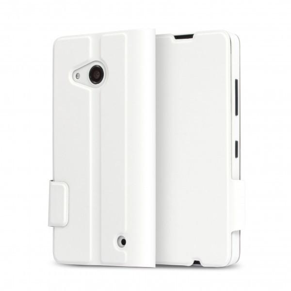 Pouzdra a kryty MOZO flipové pouzdro pro Lumia 550 Bílé