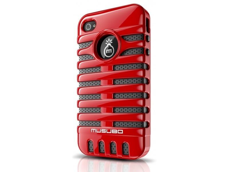 Pouzdra a kryty Musubo Elvis Apple gelskin pro iPhone 4/4S, červená