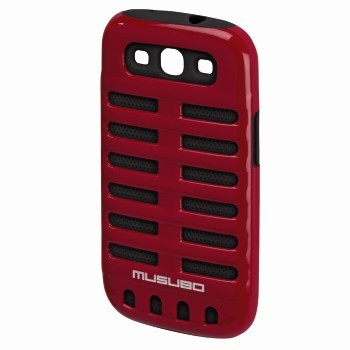 Pouzdra a kryty Musubo Retro gelskin pro Samsung Galaxy S3, červená