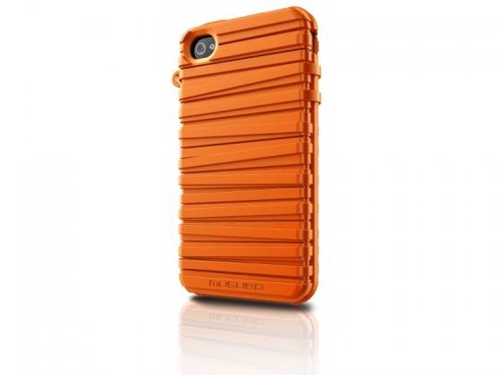 Pouzdra a kryty Musubo  Rubber Band gelskin pro iPhone 4/4S, oranžová
