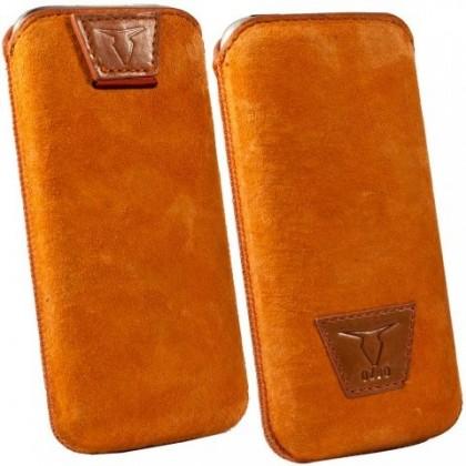 """Pouzdra a kryty Ozbo kožené univerzální pouzdro """"M"""",oranžová"""