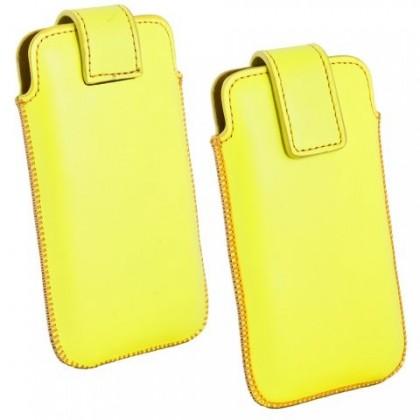 """Pouzdra a kryty Ozbo kožené univerzální pouzdro """"M"""", žlutá"""