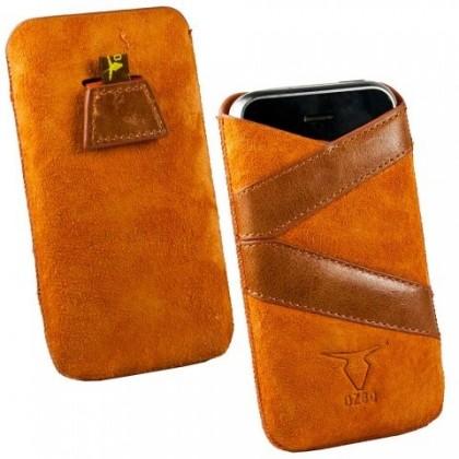 """Pouzdra a kryty Ozbo kožené univerzální pouzdro """"XL"""", oranžová (pruhy)"""