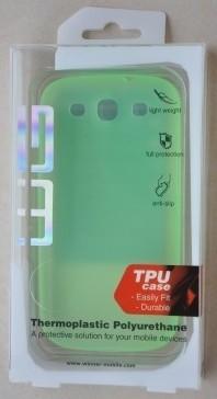 Pouzdra a kryty Pouzdro AZZARO Sam Galaxy S3 mini green (pouzdro + fólie) ROZBALE