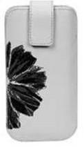Pouzdra a kryty Pouzdro PKL 3 WHITE WITH BLACK FLOWER