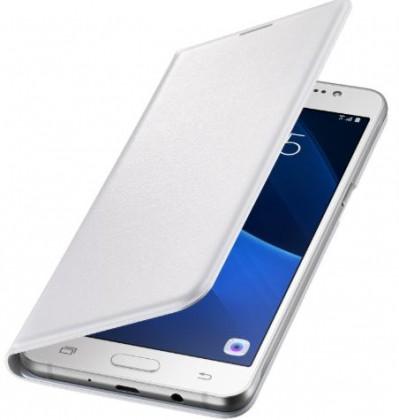 Pouzdra a kryty Pouzdro Samsung EF-WJ710PW pro Galaxy J7 (2016), bílé