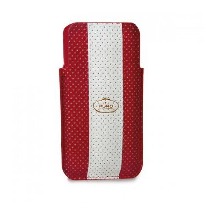 Pouzdra a kryty Puro obal pro iPhone 4/4s, červená