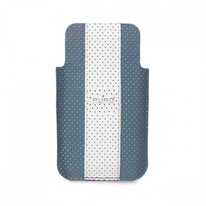 Pouzdra a kryty Puro obal pro iPhone 4/4s, modrá