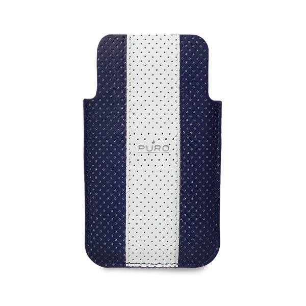 Pouzdra a kryty Puro obal pro iPhone 4/4s, tm. modrá