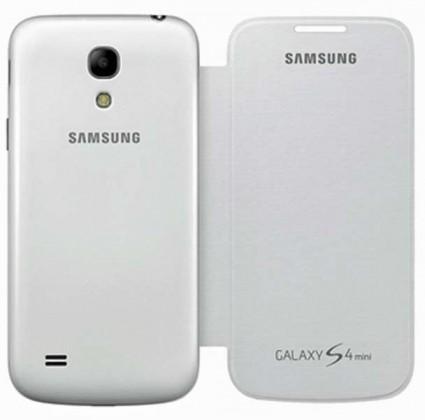 Pouzdra a kryty Samsung EF-CI919BW S-view Galaxy S4 mini pouzdro, bílé