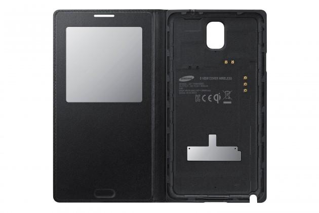 Pouzdra a kryty Samsung EF-TN900BB S-view Note3 pouzro, černé
