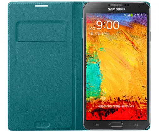 Pouzdra a kryty Samsung EF-WN900BL Galaxy Note3 pouzdro, zelené