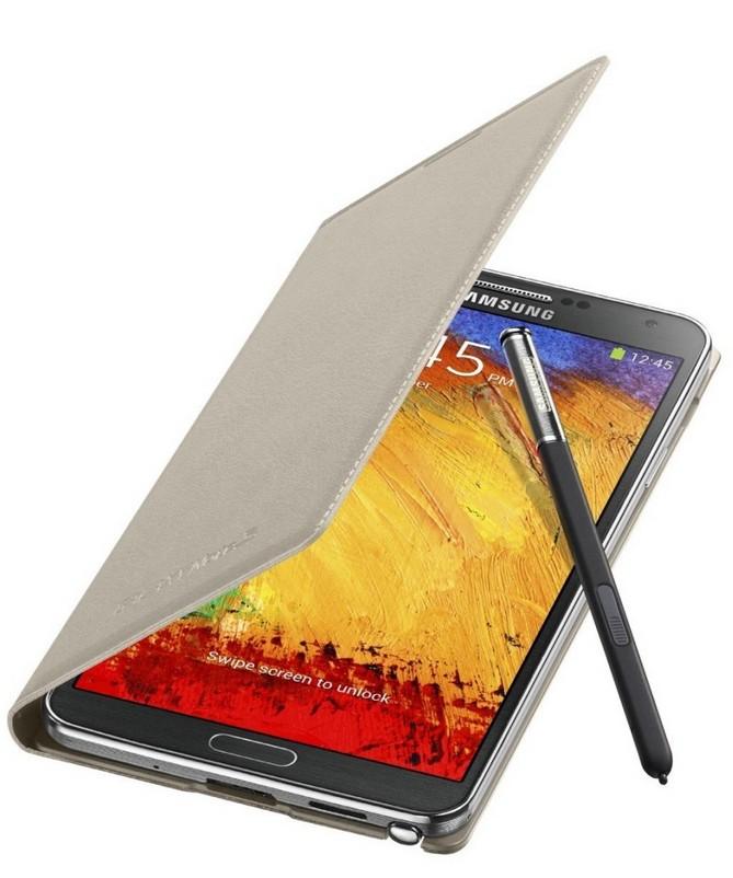 Pouzdra a kryty Samsung EF-WN900BU Galaxy Note3 pouzdro, béžové