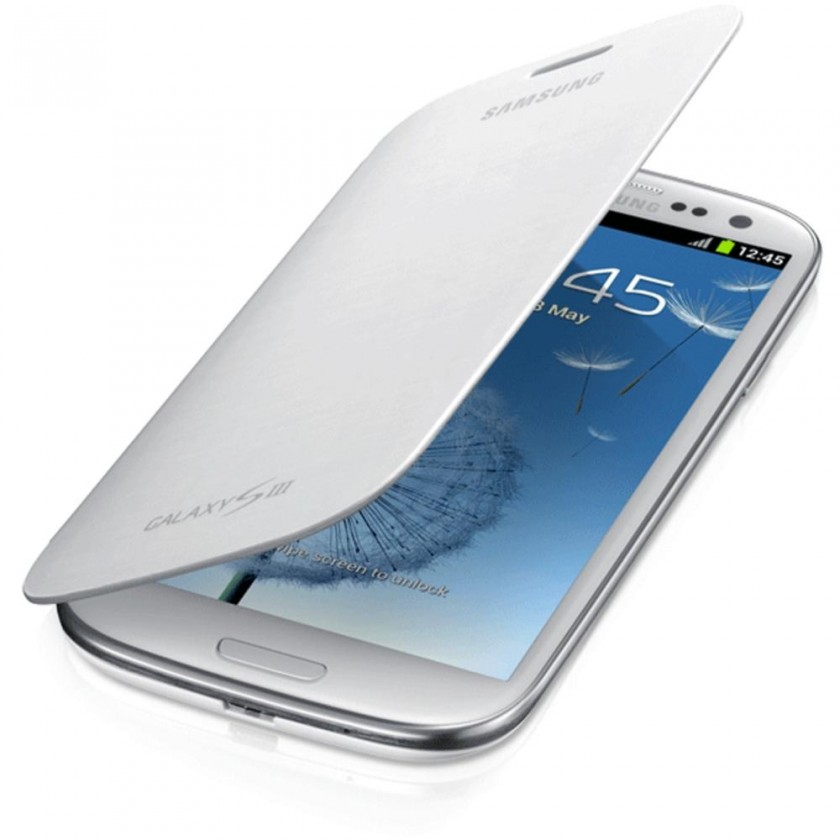 Pouzdra a kryty Samsung EFC-1G6FWE Galaxy S III pouzdro, bílé