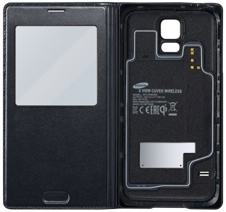 Pouzdra a kryty Samsung EP-VG900BB Galaxy S5 S-View pouzdro, černé