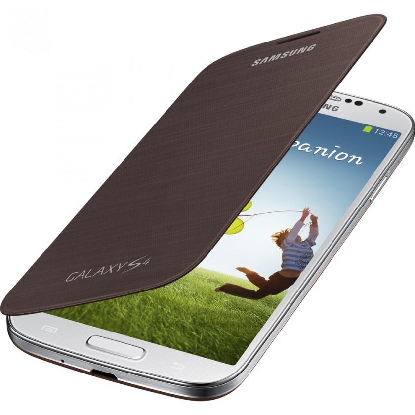 Pouzdra a kryty Samsung flip pouzdro pro Samsung Galaxy S4, hnědá