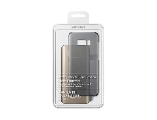 Pouzdra a kryty Samsung Kit (BatteryPack+ClearCover) pro S8+ Black