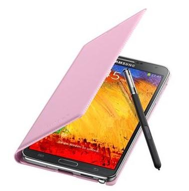 Pouzdra a kryty Samsung pouzdro s kapsou pro Samsung Galaxy Note 3, růžová