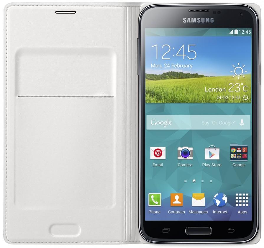 Pouzdra a kryty Samsung pouzdro s kapsou pro Samsung Galaxy S5, bílá