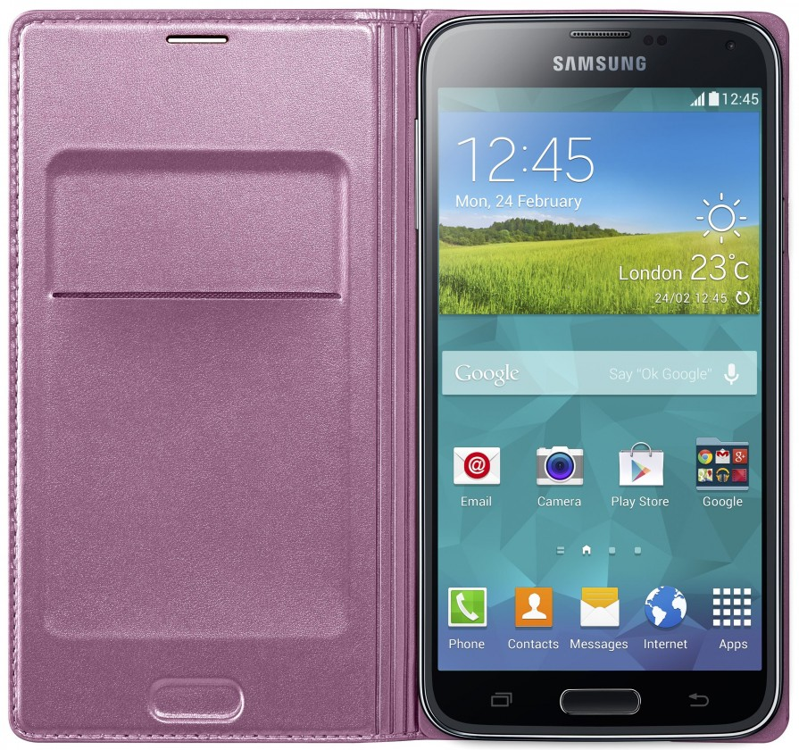 Pouzdra a kryty Samsung pouzdro s kapsou pro Samsung Galaxy S5, růžová