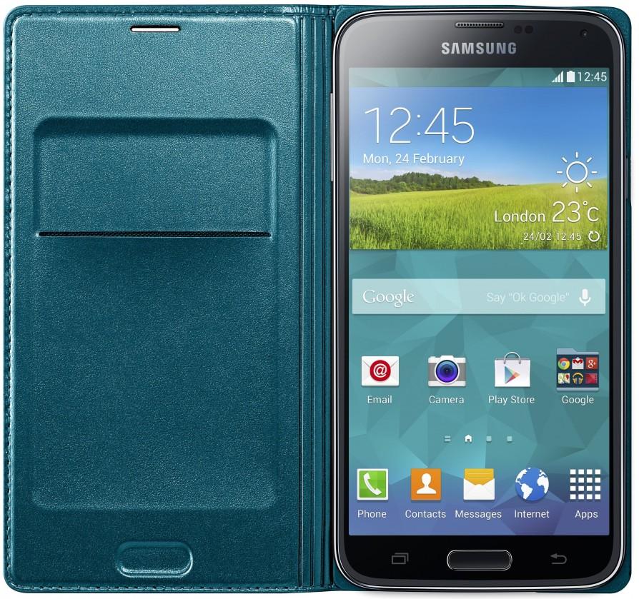 Pouzdra a kryty Samsung pouzdro s kapsou pro Samsung Galaxy S5, zelená