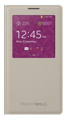Pouzdra a kryty Samsung pouzdro S-View pro Samsung Galaxy Note 3, béžová