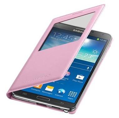 Pouzdra a kryty Samsung pouzdro S-View pro Samsung Galaxy Note 3, růžová