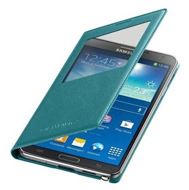 Pouzdra a kryty Samsung pouzdro S-View pro Samsung Galaxy Note 3, tyrkysová